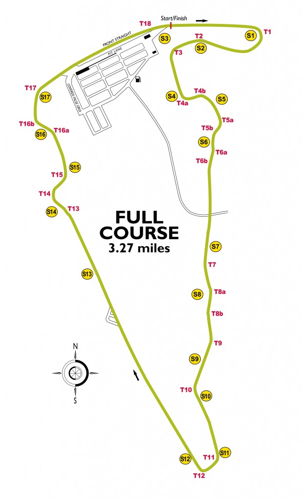 VIRginia International Raceway racetrack Map